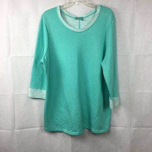 Fresh Produce Aqua Green Soft Tunic Top Sz 1X New